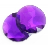 Acrylic 9mm Round Facet Purple